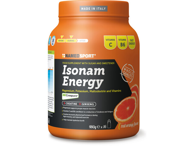 NAMEDSPORT Isonam Energy Drink 480g Orange